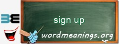 WordMeaning blackboard for sign up
